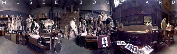 The workshop of sculptor Henri Bouchard in Paris before the move.